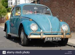 blue volkswagen beetle vintage vintage blue vw beetle parked on street greenford west london