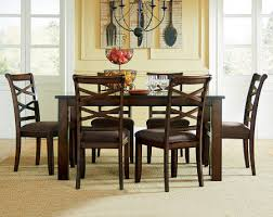 breakfast table and chairs cherry stain dining table set redondo seven piece dinette set