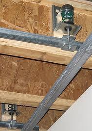 wood framed wood frame ceiling hanger model icw for wood framed construction