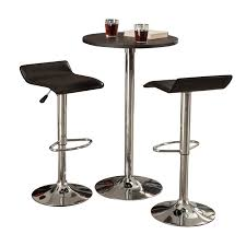 High Bistro Table Set Outdoor Bar And Stool Set Stools Backless Counter Black Small