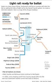 Light Rail Map Seattle Sound Transit Puts 54 Billion Light Rail Plan On Ballot The