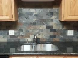 modern home interior design grey slate backsplash with ubatuba