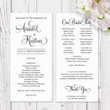 order of wedding program wedding order of service booklets