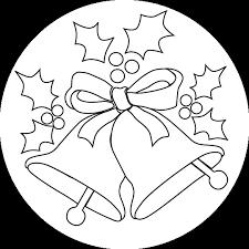 christmas bells outline cards digi embroidery