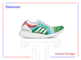 Delaware travel shoes images Adidas ultraboost sneaker artists designs 50 states usa PNG