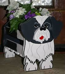 shih tzu planter garden ornaments garden decorations