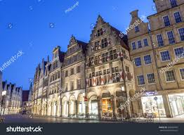 munster germany apr 4 historic buildings stock photo 268585478