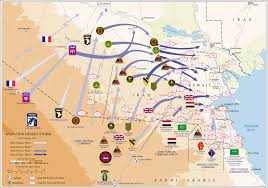 Map Of Persian Gulf Order Of Battle Of The Gulf War Ground Campaign Wikipedia