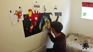 super hero wall mural painting by jefe gopro time lapse youtube