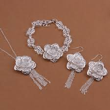 necklace silver online images New design online jewellery shopping sterling silver jewelry sets jpg