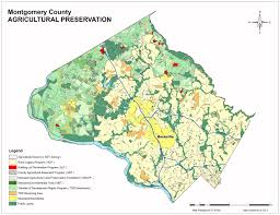 Map Of Md Montgomery County Office Of Agriculture