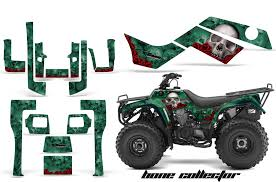 kawsaski bayou 250 quad atv graphics sticker decal kit
