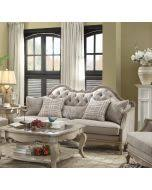 Fabric Sofa Sets by Acme 56050 Chelmsford 2pcs Antique Taupe Beige Fabric Sofa Set