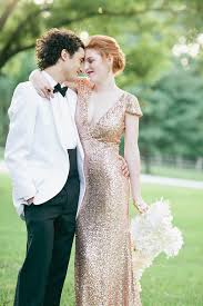 gold wedding dress bacall gold paillettes wedding gown