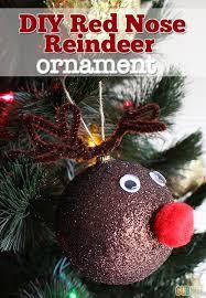 crafts diy nose reindeer ornament gublife