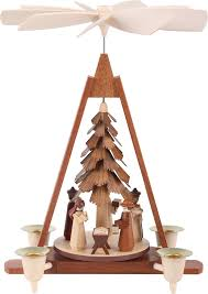 1 tier christmas pyramid nativity scene 29 cm 11in by müller