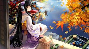 anime with kimono dress hd wallpaper collection