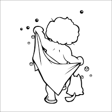 cute baby take a shower funny wall decals vinyl stickers home