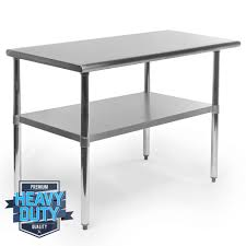 steel storage shelves backsplash kitchen work tables commercial stainless steel work