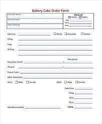 sample cake order form template order forms cake best 20 order