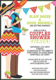 Couples Shower Fiesta Bridal Shower Invitations Mexican Themed Wedding Shower