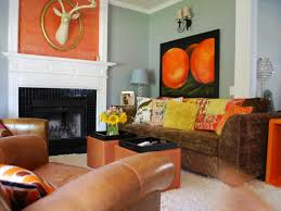 What Colors Go With Burnt Orange Endearing 60 Orange Paint For Living Room Walls Inspiration