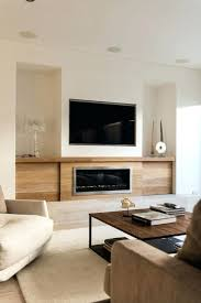 tv fireplace console mount family room modern rustic house design