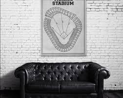 Yankee Stadium Floor Plan Yankee Stadium Etsy