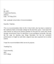 collection of solutions letter of recommendation for high