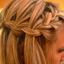 tutorial rambut waterfall french braid into waterfall braid 3 i need to learn how to do this