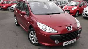 peugeot sa used cars used car peugeot 307 sw kp06fzo red wessex garages