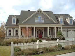 Color Houses by Colonial Dark Gray House White Trim