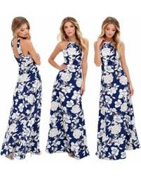summer maxi dresses deal on women summer maxi dress halter neck floral print