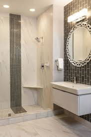 42 best tile trim ideas images on pinterest bathroom ideas stunning contemporary bathroom with glass subway and porcelain tile thetileshop