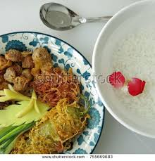 cha e cuisine royal cuisine kao chae cooked stock photo 755669683