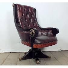 Regency Office Furniture by 1950 U0027s Regency Style Tufted Leather Office Chair Regency