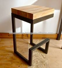 metal bar stool with back rest and wood seat vintage bar stool