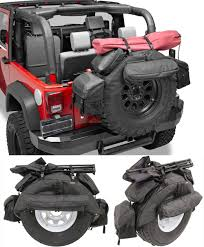 jeep soft top black bestop roughrider spare tire organizer for jeep 38