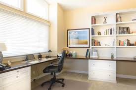 Large L Desk Spacious Home Office With Large L Shaped Built In Desk L Shaped