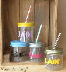 Mason Jar Party Favors Cute Party Favors Personalized Kids Cups Plastic Mason Jars 10