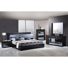 High Gloss Bedroom Furniture Sale Global Furniture Manhattan 5 Piece Bedroom Set In Black High Gloss