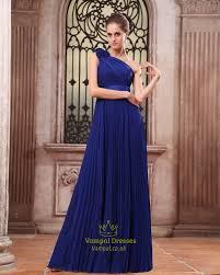 royal blue one shoulder bridesmaid dresses one shoulder chiffon