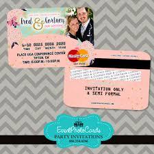 coral mint floral wedding invitations credit card wedding