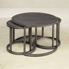 round nesting coffee table with 2 glass of wine nest tables modern