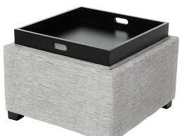 ottoman davis storage ottoman with tray ottoman with tray