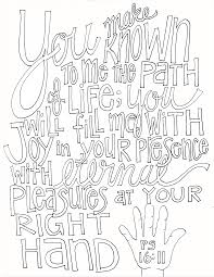 psalm 16 11 coloring page and week in review u2013 from victory road
