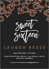 sweet 16 invitations sweet 16 invitations match your color style free basic invite