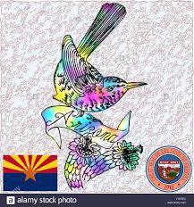 Az State Flag Arizona State Bird Flag Coat Stock Vector Art U0026 Illustration