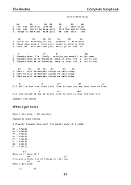 Blind Chords The Beatles Complete Songbook For Guitar Tabs And Chords