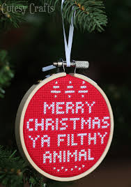 home alone cross stitch ornament cutesy crafts